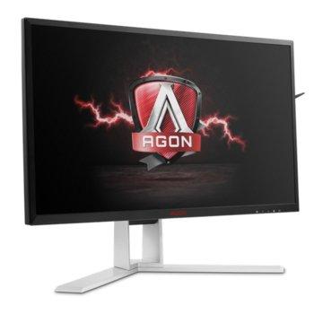 """Монитор AOC AGON AG241QG, 23.8"""" (60.45 cm), TN панел, 165Hz, WQHD, 1ms, 50 000 000:1, 350 cd/m2, HDMI, DisplayPort image"""