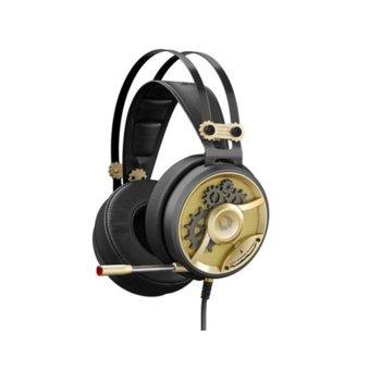 Слушалки A4Tech Bloody Gaming M660 Chronometer, микрофон, гейминг, 40мм говорители, златисти image