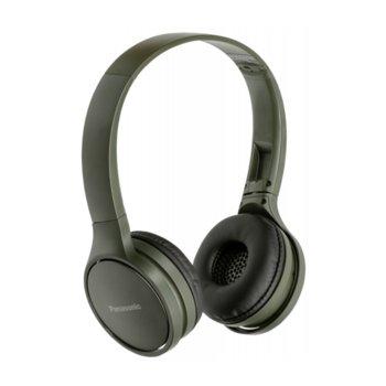 Слушалки Panasonic RP-HF410BE-G, безжични, Bluetooth, микрофон, до 24 часа време на работа, зелени image