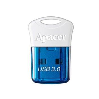 Памет 32GB USB Flash Drive, Apacer AH157, USB 3.0, синьо/бяла image