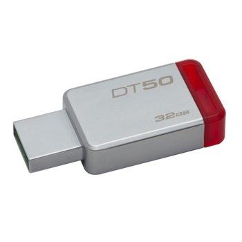 Памет 32GB USB Flash Drive, Kingston DataTraveler 50, USB 3.0, сребриста image