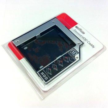 "Чекмедже Estillo за DVD Slim към 2.5"" (6.35 cm) SATA HDD/SSD, 9.5mm image"