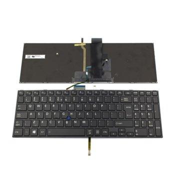 Клавиатура за Toshiba Satellite Pro R50-C/Tecra A50-C/Z50-C, UI, с подсветка, черна image