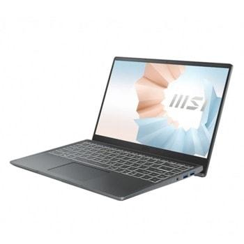 "Лаптоп MSI Modern 14 B11MO (9S7-14D314-268-16GB), (сив), четириядрен Tiger Lake Intel Core i5-1135G7 2.4/4.2 GHz, 14.0"" (35.56 cm) Full HD IPS Anti-Glare Display, (HDMI), 16GB DDR4, 512GB SSD, 1x USB 3.2 Gen1 Type-C, Windows 10 Home image"