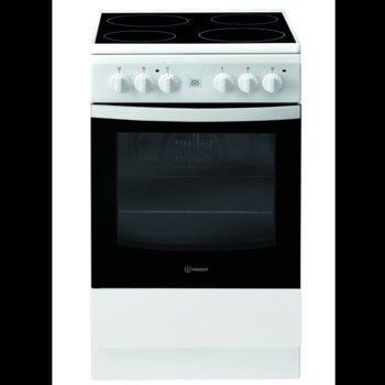 Готварска печка Indesit IS5V5GCW/E, клас А+++, 59 л. общ обем, 4 котлона, 5 фукнции на фурната, механичен таймер, бяла image