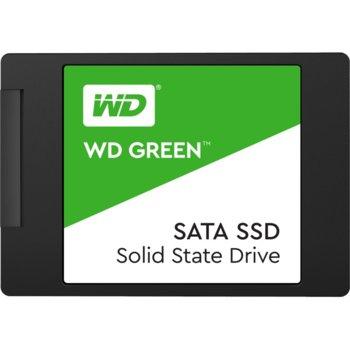 "Памет SSD 120GB Western Digital Green WDS120G2G0A, SATA 6Gb/s, 2.5""(6.35 см), скорост на четене 545MBs, скорост на запис 465MBs image"