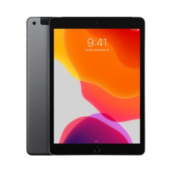 "Таблет Apple iPad 7 10.2"" (MW6A2HC/A)(Space Grey), Wi-Fi + Cellular, LTE, 10.2"" (25.90 cm) IPS Retina дисплей, четириядрен A10 Fusion 2.34GHz, 2GB RAM, 32GB Flash памет, 8.0 & 1.2 Mpix, iPadOS, 493g image"