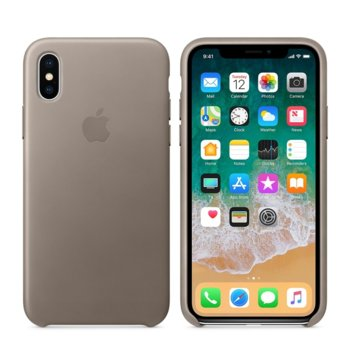 Apple iPhone X Leather Case - Taupe product
