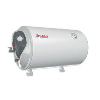 Електрически бойлер Елдом WH05039L 50L 2KW, 50 л, хоризонтален, 2 kW, циркониево покритие,, енергиен клас D, 38.7 x 76.0 x 41.0 cm image