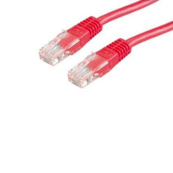 Пач кабел Roline, UTP, Cat.6, 3м, червен image