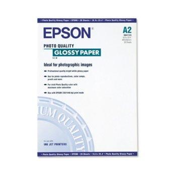 ХАРТИЯ EPSON PHOTO QUALITY GLOSSY PAPER - A2 41123 product