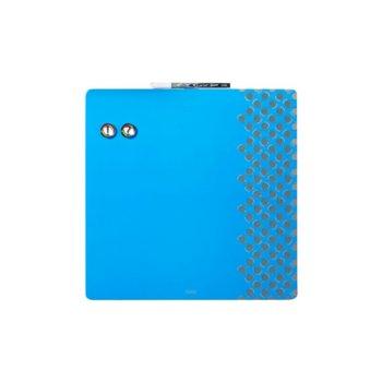Магнитна дъска Nobo Combo, с възможност за хоризонтален и вертикален монтаж, размер 360x360 mm, синя image