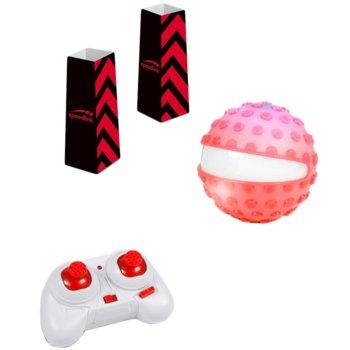 Сфера Speedlink Racing Sphere, 30 метра обхват, 8км/ч, подсветка, с две препятствия, бяла/розова image
