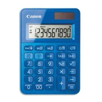 Калкулатор Canon LS-100K, LCD дисплей, 10 цифрен, син image