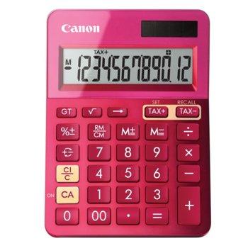 Калкулатор Canon LS-123K-PK, функция за данъчни изчисления, розов image