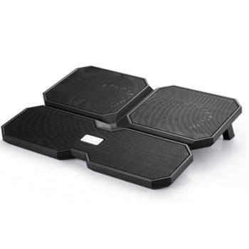 "Охлаждаща поставка за лаптоп DeepCool Multi Core X6, за лаптопи до 15.6"" (39.6 cm), 2xUSB, черна image"