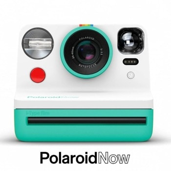 Фотоапарат Polaroid Now Mint (зелено-бял), моментални снимки, светкавица, с батерия, auto-focus, USB image