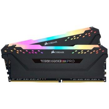 Памет 2x8GB DDR4 2666MHz, Corsair Vengeance RGB, CMW16GX4M2A2666C16, 1.2V image