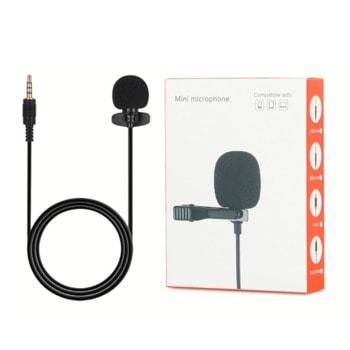 """Микрофон L3 234534, тип """"брошка"""", AUX, черен image"""
