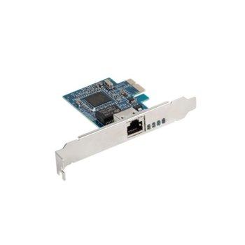 Мрежови адаптер Lanberg PCE-1GB-001 10/100/1000M, от PCI-E x8 към 1x RJ-45(ж) image