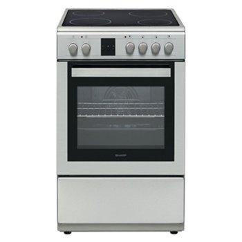 Готварска печка Sharp KF-66FVDD22IM-CH, клас A, 4 нагревателни зони, 58л. обем, 8 фyнĸции, цифров таймер, inox image