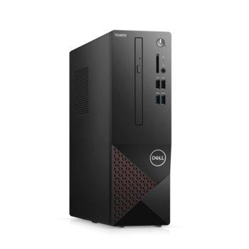 Настолен компютър Dell Vostro 3681 SFF (N304VD3681EMEA01_2101_UBU), четириядрен Comet Lake Intel Core i3-10100 3.6/4.3 GHz, 8GB DDR4, 256GB SSD, 4x USB 3.2 Gen 1, клавиатура и мишка, Linux image