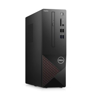 Настолен компютър Dell Vostro 3681 SFF (N510VD3681EMEA03A_2101_KBM), осемядрен Comet Lake Intel Core i7-10700 2.9/4.8 GHz, 8GB DDR4, 512GB SSD, 4x USB 3.2 Gen 1 Type-A, клавиатура и мишка, Linux image