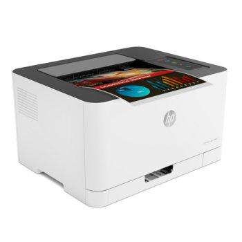 Лазерен принтер HP Color Laser 150nw, цветен, 600 x 600 dpi, 18 стр/мин, Wi-Fi, LAN, USB, A4 image