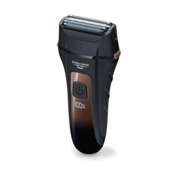 Самобръсначка Beurer HR 7000, 3x ножчета, с батерия, LED дисплей, водоустойчив, 60 мин време на работа, черна image