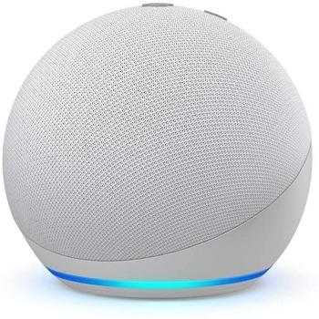 Смарт колонка Amazon Echo Dot 4 Charcoal, 3W, микрофон, Wi-Fi, Bluetooth, AUX, гласов асистент, бяла image