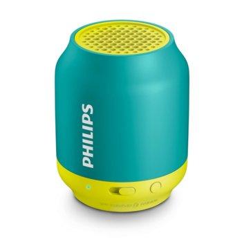 Тонколона Philips BT50A, 1.0, 2W, Bluetooth/3.5mm jack, зелена image