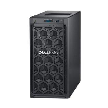 Сървър Dell PowerEdge T140 (#DELL02416), четириядрен Coffee Lake Intel Xeon E-2134 3.5/4.5 GHz, 8GB DDR4 UDIMM, 2x 1000GB HDD, 2 X 1GbE LOM, 3x USB 3.0, без ОС, без PSU image