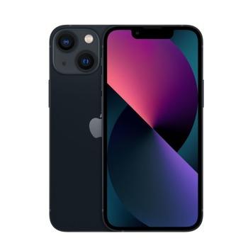 """Смартфон Apple iPhone 13 mini (черен), 5.4"""" (13.72 cm) Super Retina XDR OLED дисплей, шестядрен Apple A15 Bionic 3.22 GHz, 4GB RAM, 512GB Flash памет, 12.0 + 12.0 & 12.0 MPix камера, iOS, 141g image"""