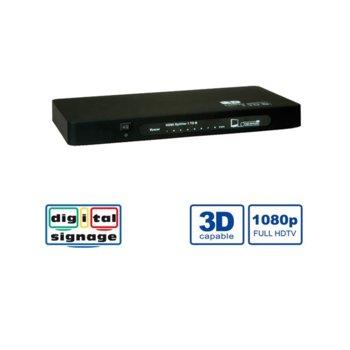 Видео сплитер Roline 14.99.3507, от 1x HDMI(ж) към 8x HDMI(ж), 1920 x 1200 макс. резолюция, 1 устройство image