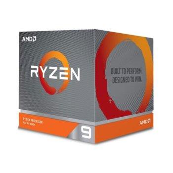 Процесор AMD Ryzen 9 3900XT, дванадесетядрен (3.8/4.7 GHz, 64MB Cache, без GPU, LGA AM4), BOX, без вентилатор image