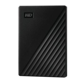 Твърд диск 2TB, Western Digital MyPassport, черен, външен, USB 3.1 image