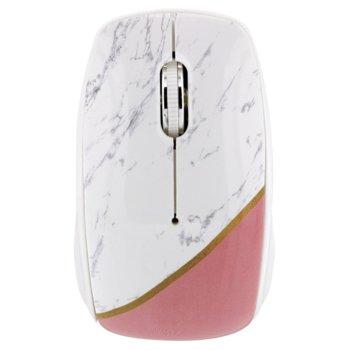 Мишка TnB Marble 2, оптична (1000 dpi), безжична (2.4GHz), USB, бяла image
