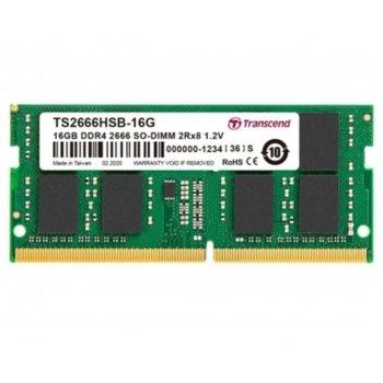 Памет 16GB DDR4 2666MHz, SO-DIMM, Transcend TS2666HSB-16G, 1.2V image