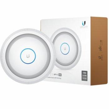 Точка за достъп Ubiquiti UAP-AC-EDU, 2.4GHz (450Mbps) & 5GHz (1300Mbps), 2x Lan1000, 1x USB, 3 антени, говорител image
