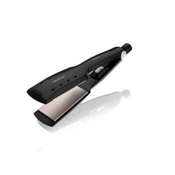 Преса за коса Bamba RitualCare 900 WetDry Max, покритие с масло от кератин и арган, 360º система, вградена система за заключване, 55 W, черна image