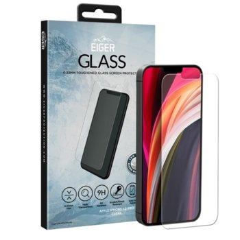 Протектор от закалено стъкло /Tempered Glass/ Eiger за Apple iPhone 12 / 12 Pro, защитно покритие на дисплей, прозрачен image