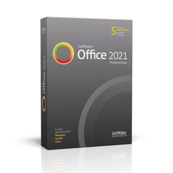 Софтуер SoftMaker Office Proffesional 2021, 5 потребители, български, за Windows image