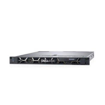 Сървър Dell PowerEdge R440 (PER440CEE01_1), осемядрен Skylake Intel Xeon Silver 4108 1.8/3.0 GHz, 16GB DDR4 RDIMM, без HDD, 2x 1GE LOM, без ОС, 550W image