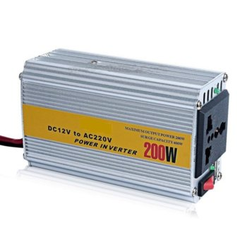 Инвертор BZ-AC200, 200W, от DC 12V към AC110/220V/10A-40A, за кола image