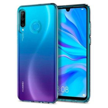 Калъф за Huawei P30 Lite, термополиуретанов, Spigen Liquid Crystal L39CS25740, прозрачен image