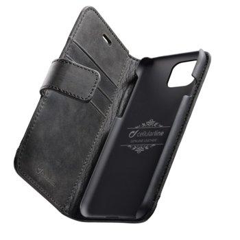 Калъф за Apple iPhone 11 Pro Max, Flip Wallet, кожен, Cellular Book Supreme, черен image
