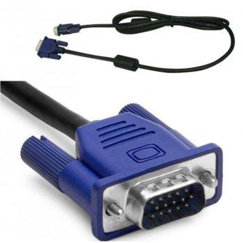 Кабел DeTech, VGA(м) към VGA(м), 5m, черен image