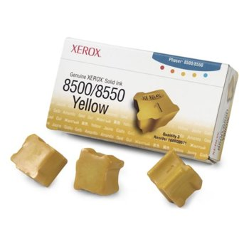 МАСТИЛО ЗА XEROX ColorStix ЗА PHASER 8500/8550 - ink 3 Yellow Sticks - P№ 108R00671 - заб.: 3000k image