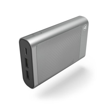 Външна батерия/power bank Hama HD-5, 10000mAh, сив, USB Type C, to go image