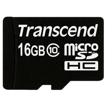 Transcend 16GB micro SDHC Adapter - Class 10 product